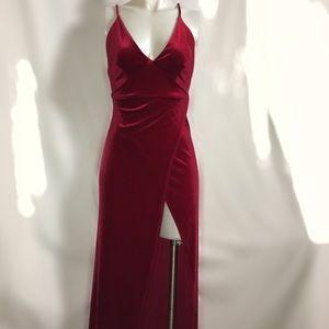 981b306d64c Fashion Nova Dresses - Fashion Nova Angelique Velvet Maxi Dress